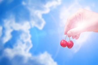 hanging fruit, clouds