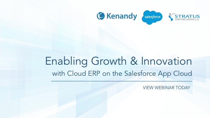 Kenandy Salesforce Webinar